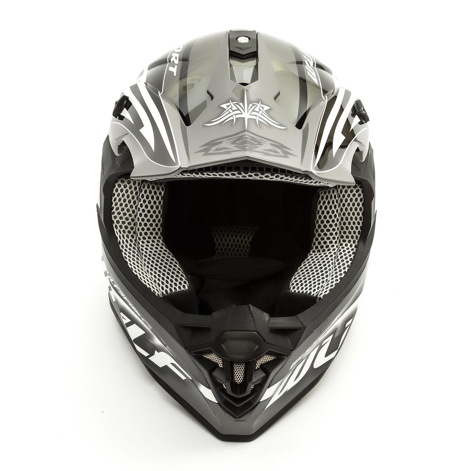 Wulfsport-Adult-Sceptre-Helmets-Motocross-Pitbike-Motorbike-Off-Road-Racing-ATV thumbnail 10