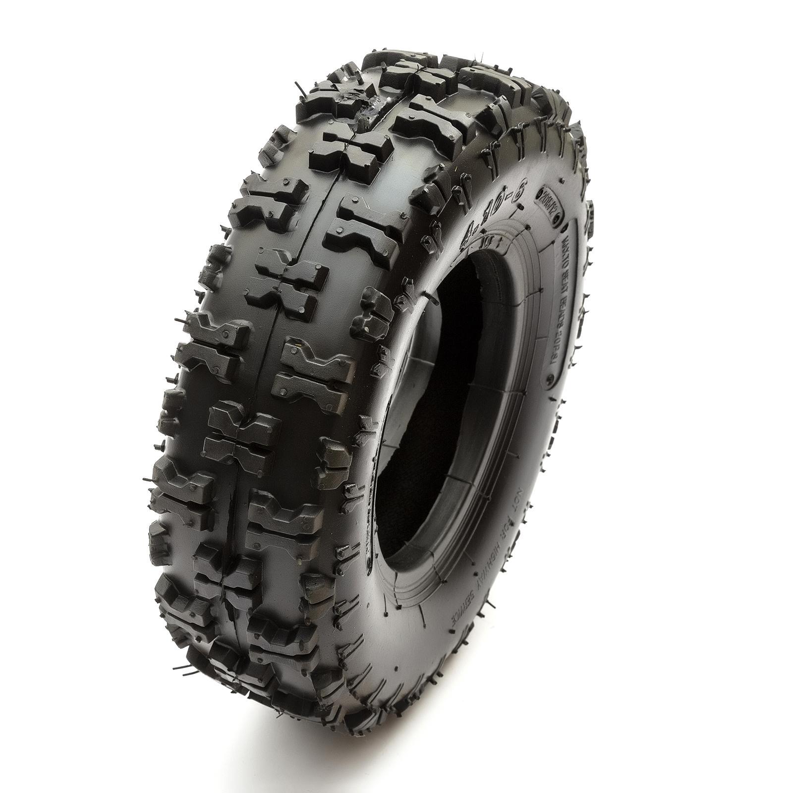 Tyre /& Inner Tube 4.10-6 Midi Moto Quad Bike 410-6 Off Road Knobbly 4.10-6