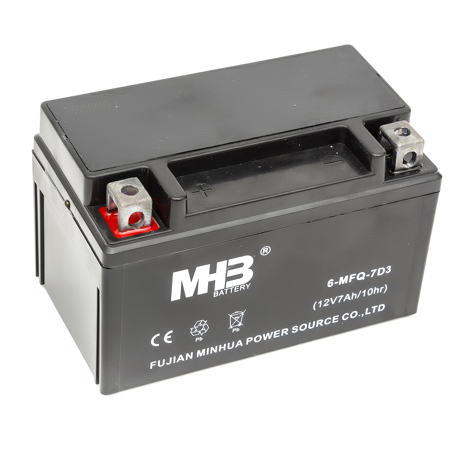 MHB Lead Acid Sealed Battery 12v 7Ah Replace Nitro YTX7L-BS Motorcycle Motorbike
