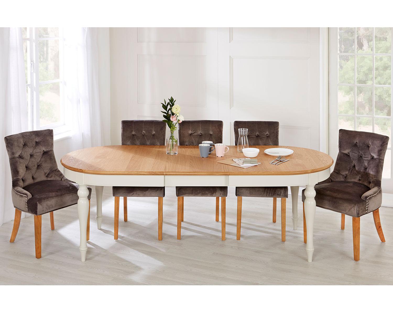 2-Scoop-Button-Back-Dining-Chairs-in-Grey-Velvet-Chrome-Knocker-amp-Oak-Legs thumbnail 10