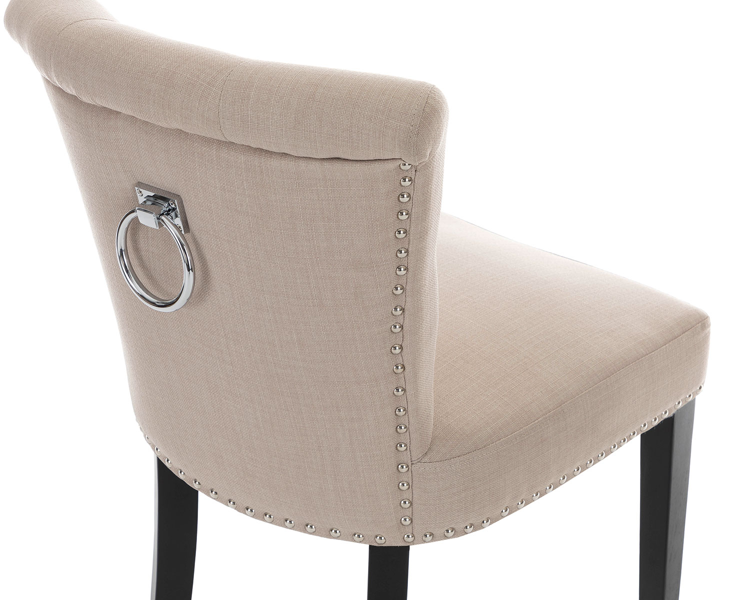 Light Gray Linen Dining Chairs: X 2 Camden Velvet Or Linen Dining Chair Grey Cream With