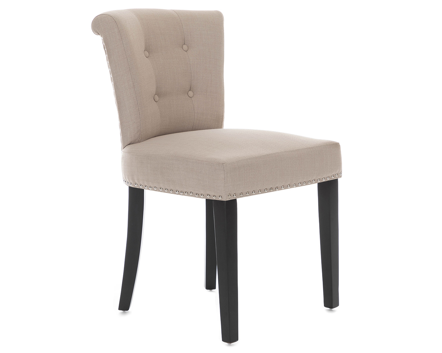 Grey Velvet High Back Dining Chairs: X 2 Camden Velvet Or Linen Dining Chair Grey Cream With