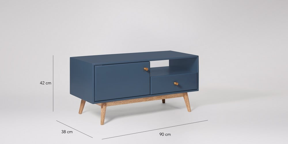 Swoon Thurlestone Living Room Stylish China Blue One Drawer Tv Stand Rrp 299 Ebay