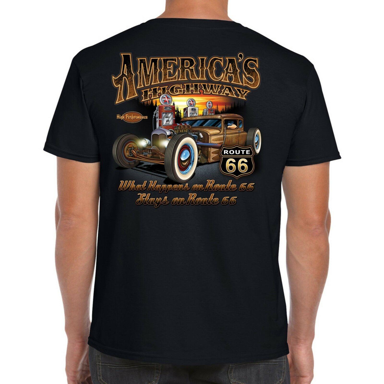 Mens Hotrod 58 Muscle t shirt Top Vintage Iron V8 Custom Rat Rod Usa classic