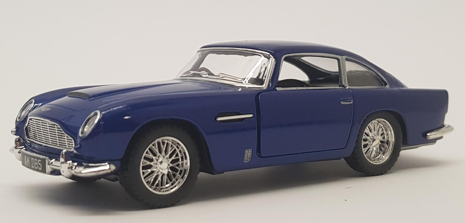 Aston Martin Db5 Blue Kinsmart Pull Back Go Car Ebay