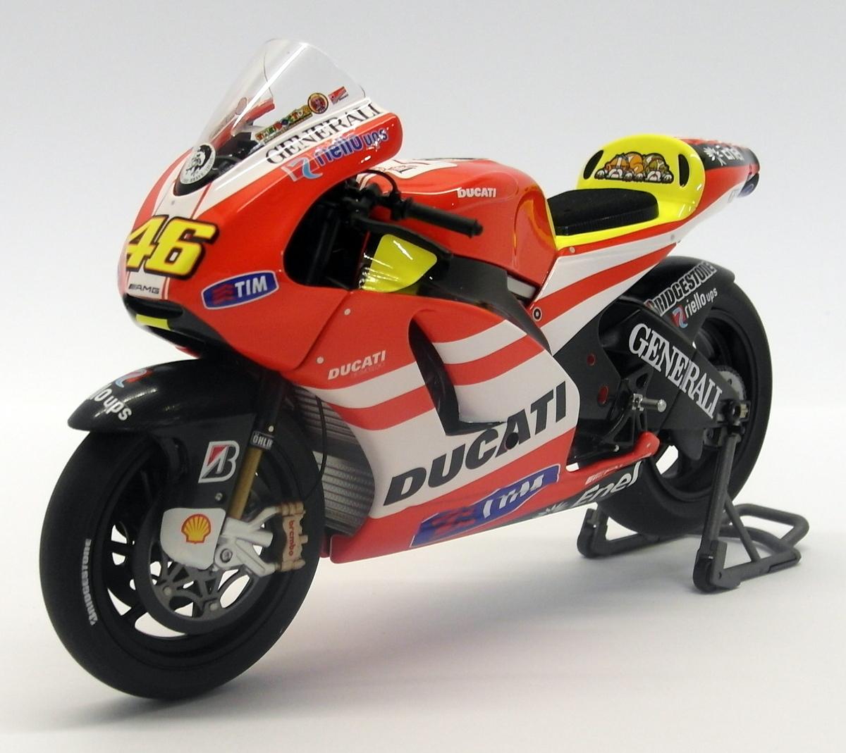 Minichamps 122 100146 Ducati Desmosedici Model Show Bike V Rossi 2011 ltd 1:12th