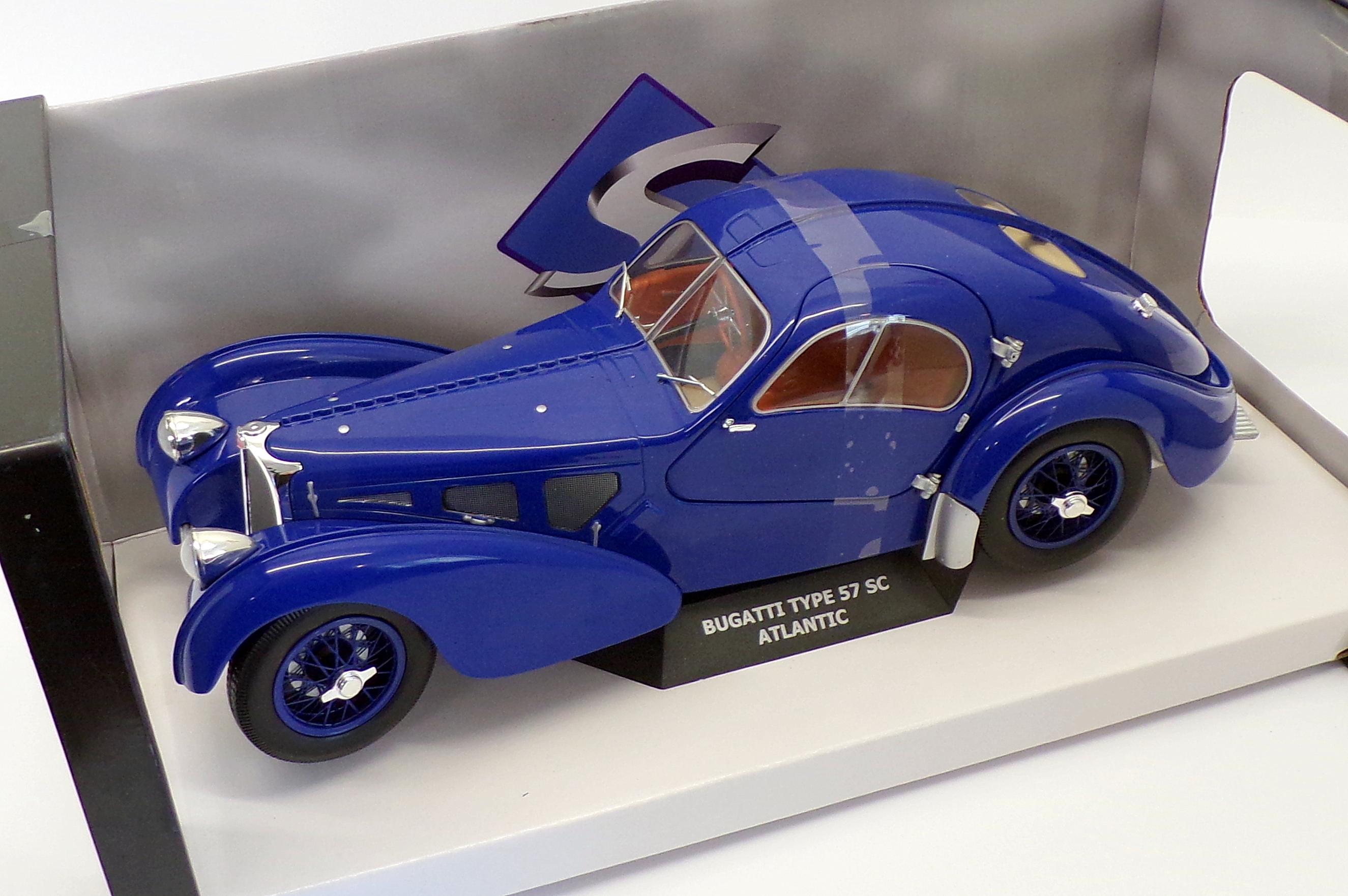 Solido Escala 1 18 Carro Modelo S1802103 Bugatti Type 57 Sc Atlantic Azul Ebay