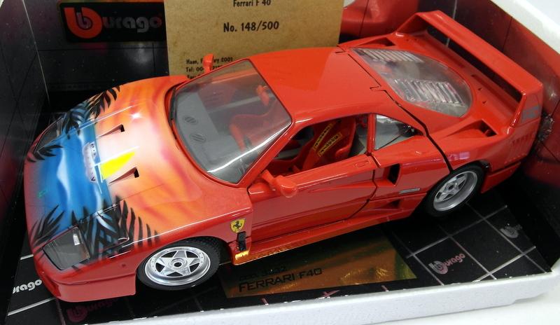 Burago 1 18 Scale Diecast 726334 Ferrari F40 Southsea Qvc Airbrushed Version Ebay