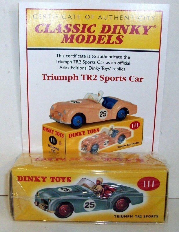 TRIUMPH TR2 SPORTS DINKY TOYS 105 ATLAS REPLICA