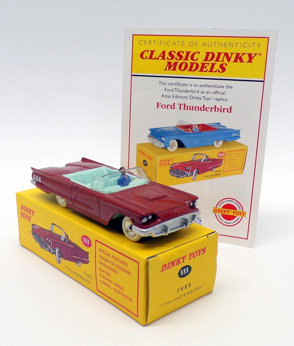 1//43 Atlas Dinky Toys 555 Red FORD THUNDERBIRD Diecast Models Cars