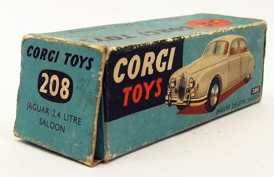 CORGI TOY REPRO BOX ONLY FOR NO 208M JAGUAR 3.4 SALOON