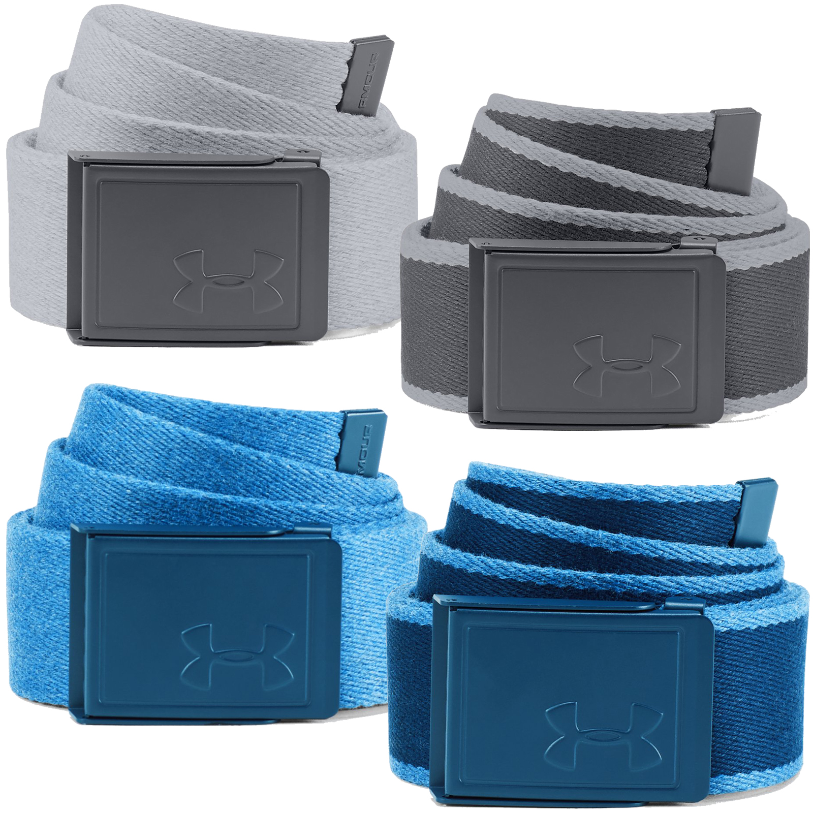 8504ba33 Details about Under Armour Men's Reversible Novelty Patterned Webbing Golf  Belt