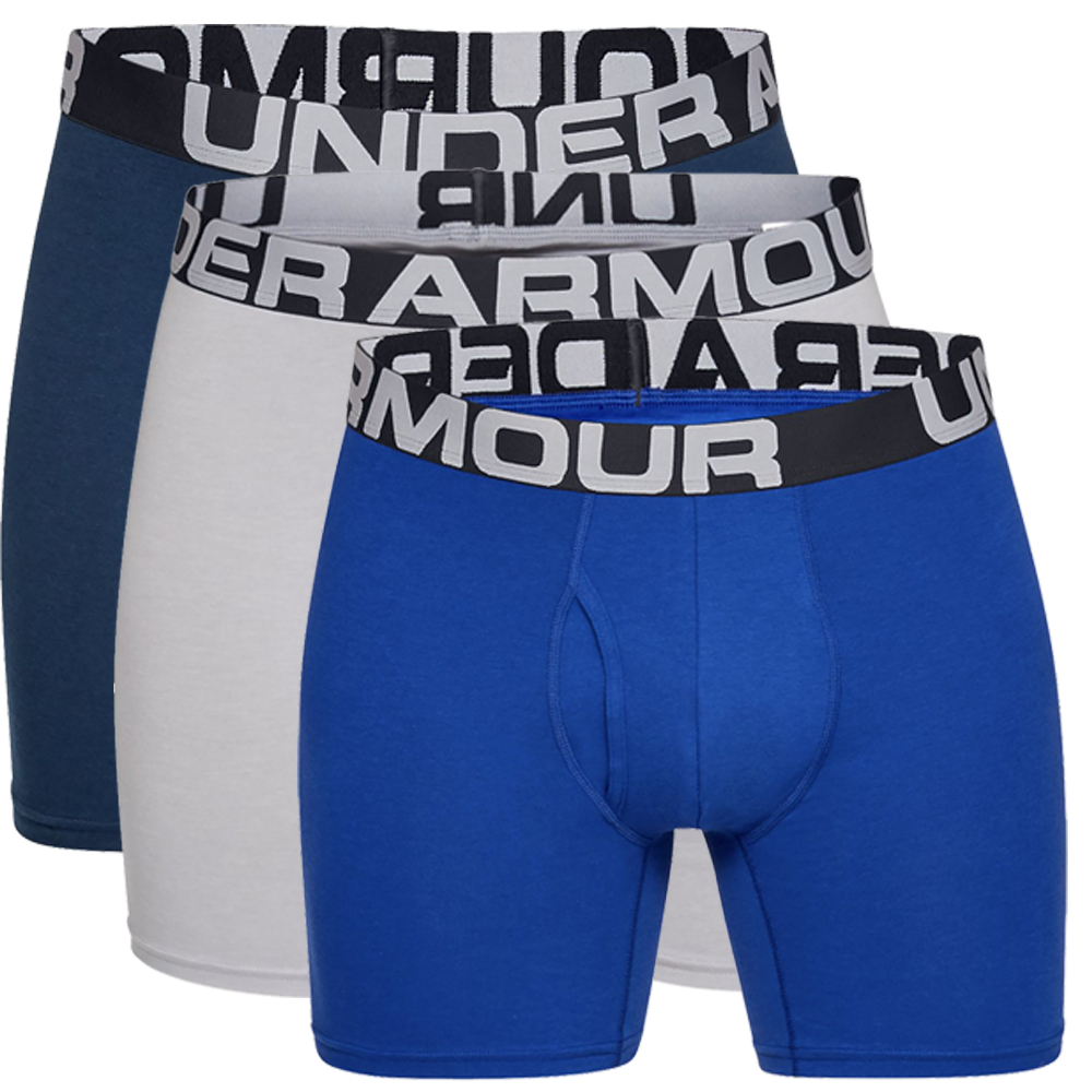 "Under Armour Charged Cotton 6"" Boxerjock 3 Mens Boxer Shorts"
