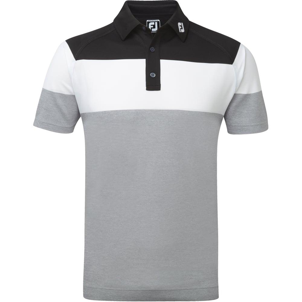 Footjoy Mens Raglan Chest Stripe Golf Polo Shirt 2017 Ebay