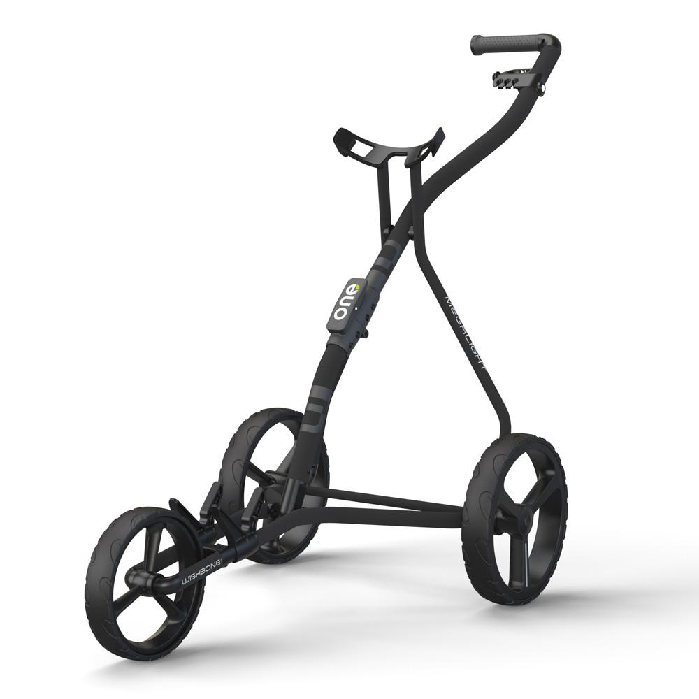 Wishbone One Megalite Golf Trolley + 2 Free Gifts  - Charcoal/Black