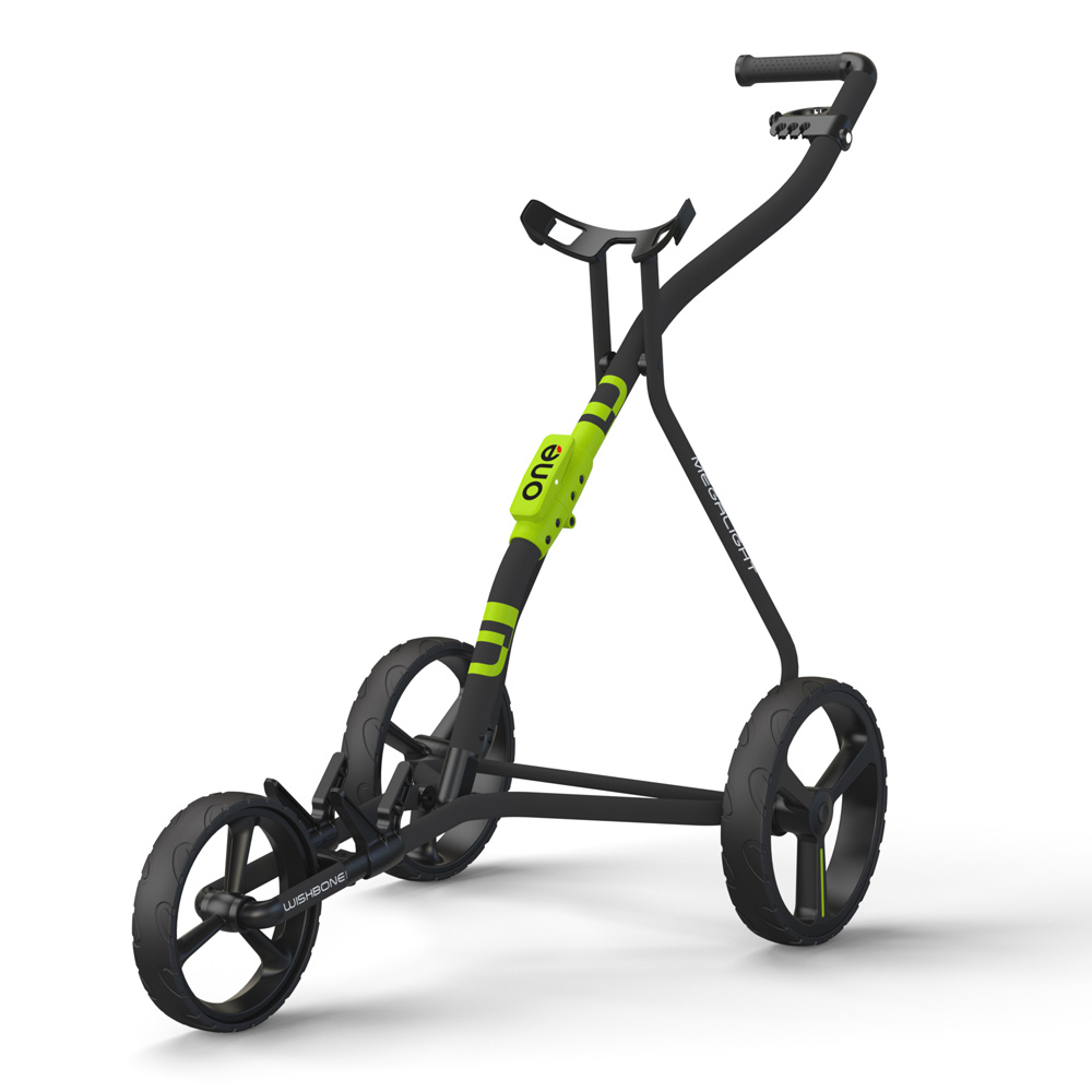 Wishbone One Megalite Golf Trolley + 2 Free Gifts  - Charcoal/Lime