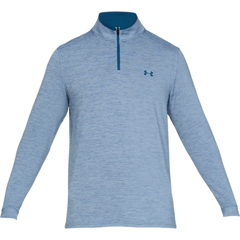 Under Armour Golf Playoff 2.0 1/4 Zip Mens Sweater  - Thunder/Petrol Blue