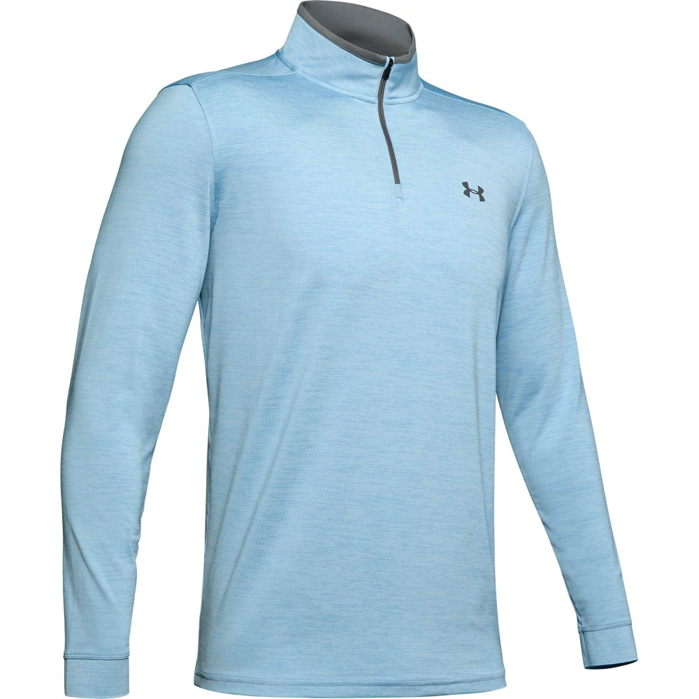 Under Armour Golf Playoff 2.0 1/4 Zip Mens Sweater  - Boho Blue