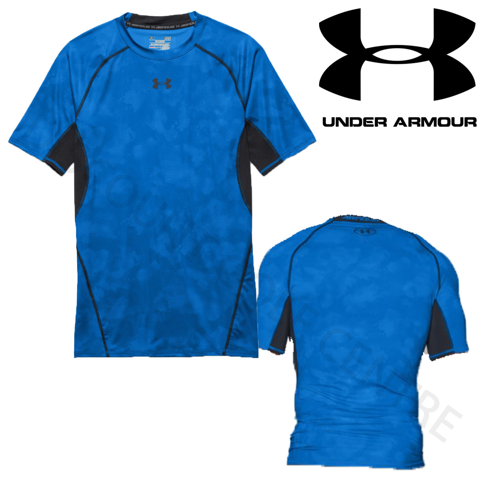 Under armour mens heatgear armour printed ss compression for Printed under armour shirts