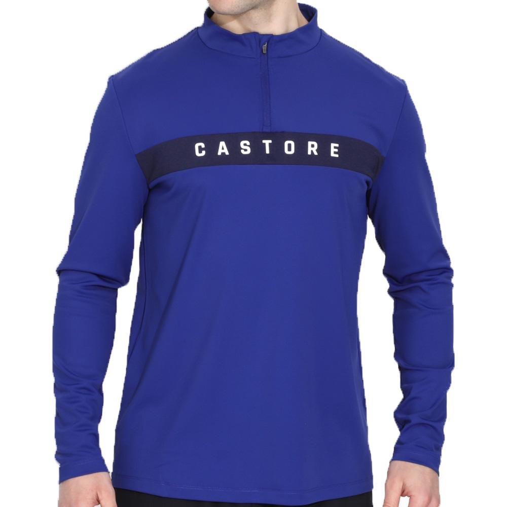 Castore Performance 1/4 Zip Mens Golf Pullover  - Cobalt