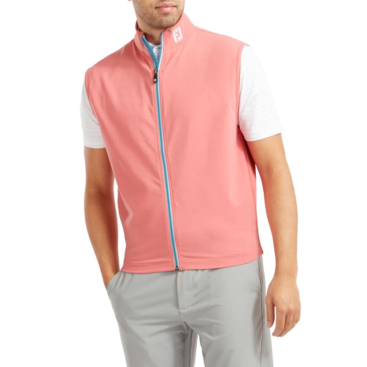 FootJoy Full Zip Knit Vest Mens Golf Gilet