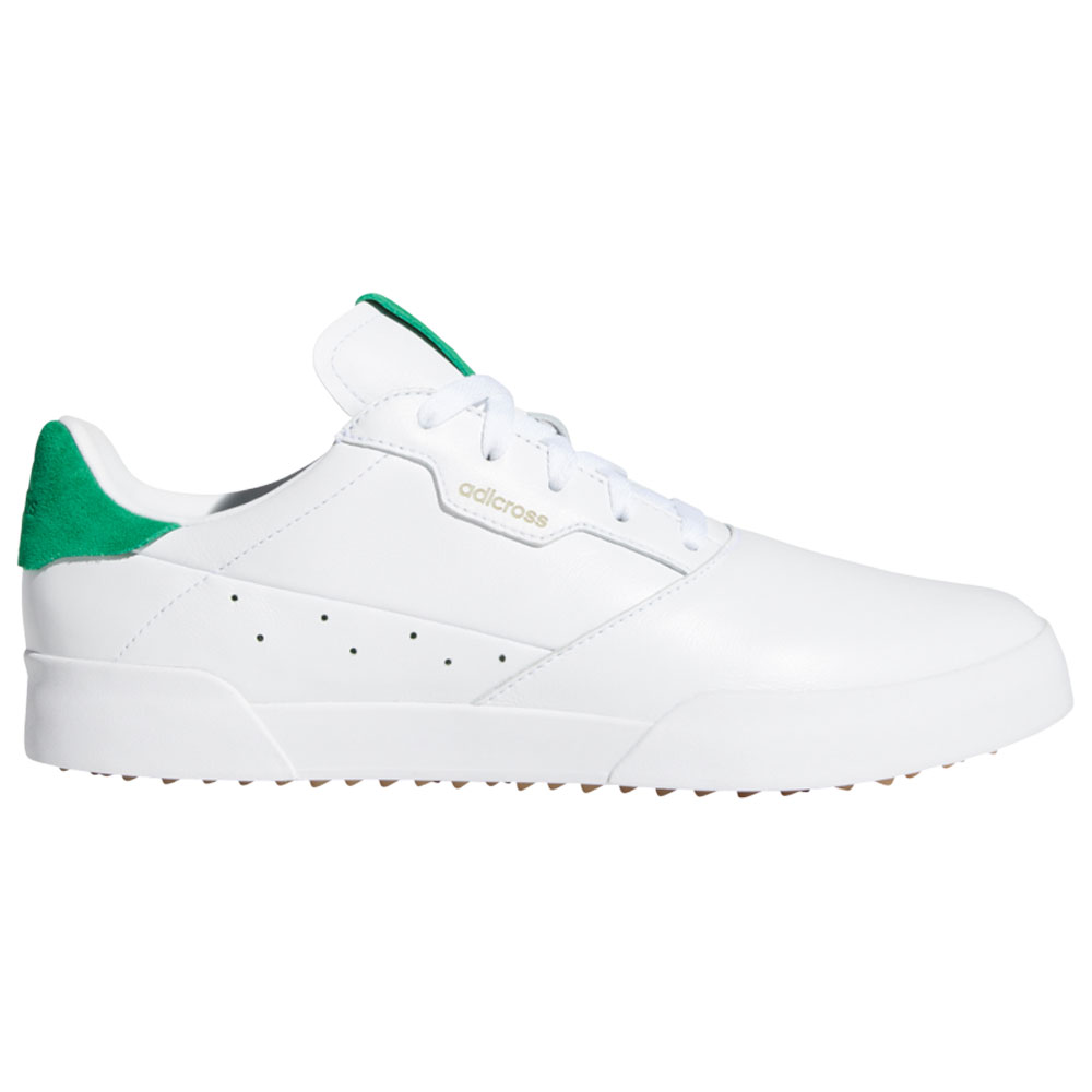 adidas Adicross Retro Mens Spikeless Golf Shoes  - White/Green/Gum