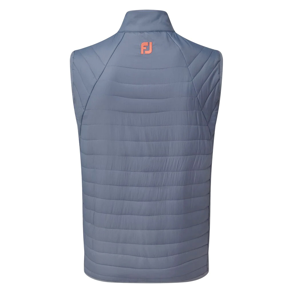 FootJoy Golf Thermal Quilted Vest Mens Gilet  - Slate/Coral