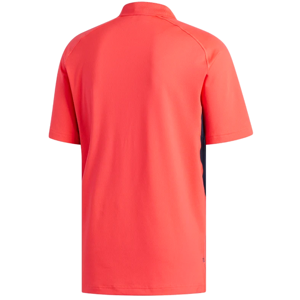 adidas Golf Ultimate 365 Climacool Solid Mens Short Sleeve Polo Shirt  - Shock Red