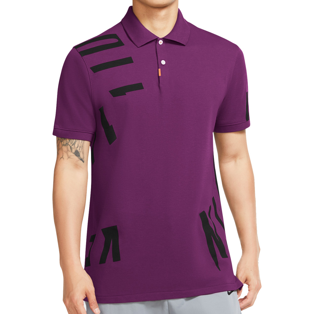 Nike Dry Hacked Slim Golf Polo Shirt  - Bright Grape