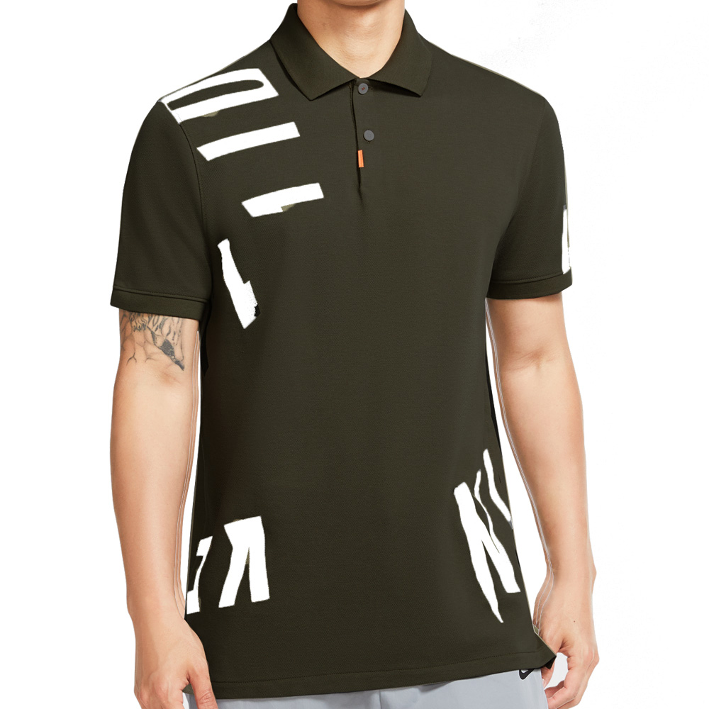 Nike Dry Hacked Slim Golf Polo Shirt  - Black