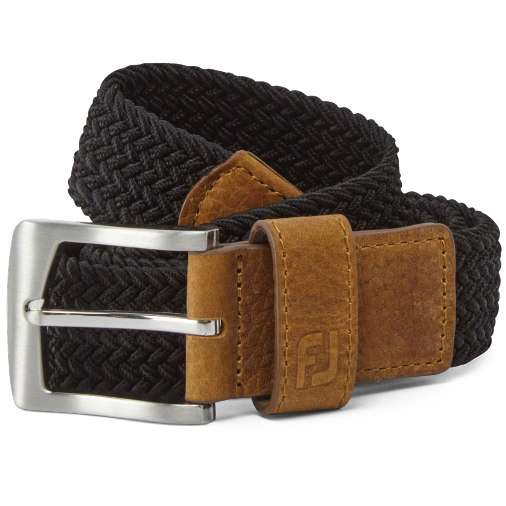 FootJoy Golf FJ Braided Belt  - Black