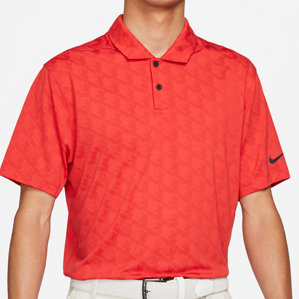 Nike Golf Dri-Fit Vapor Jacquard Polo Shirt  - Track Red