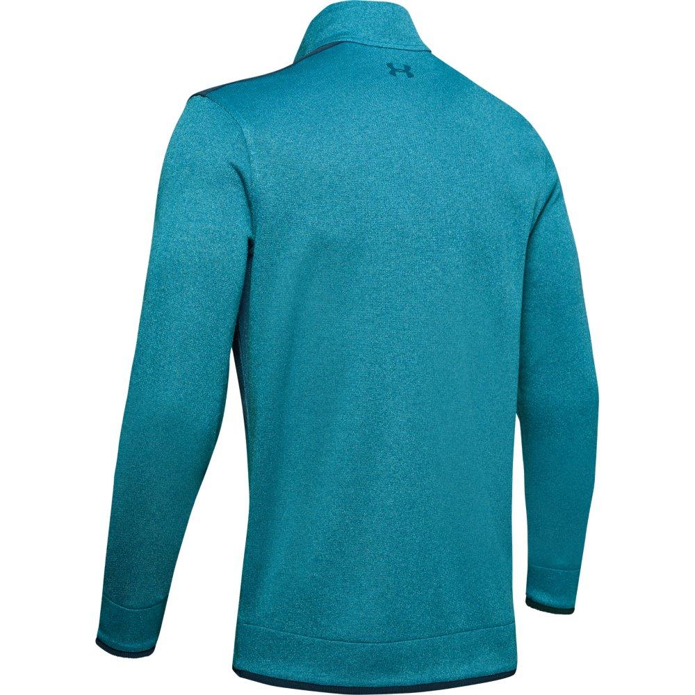 Under Armour Golf UA SweaterFleece  Mens 1/2 Zip Sweater  - Teal Vibe/Tandem Teal