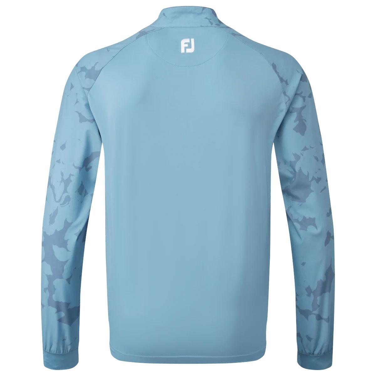 FootJoy Camo Floral Half Zip Mens Golf Mid Layer  - Storm Blue