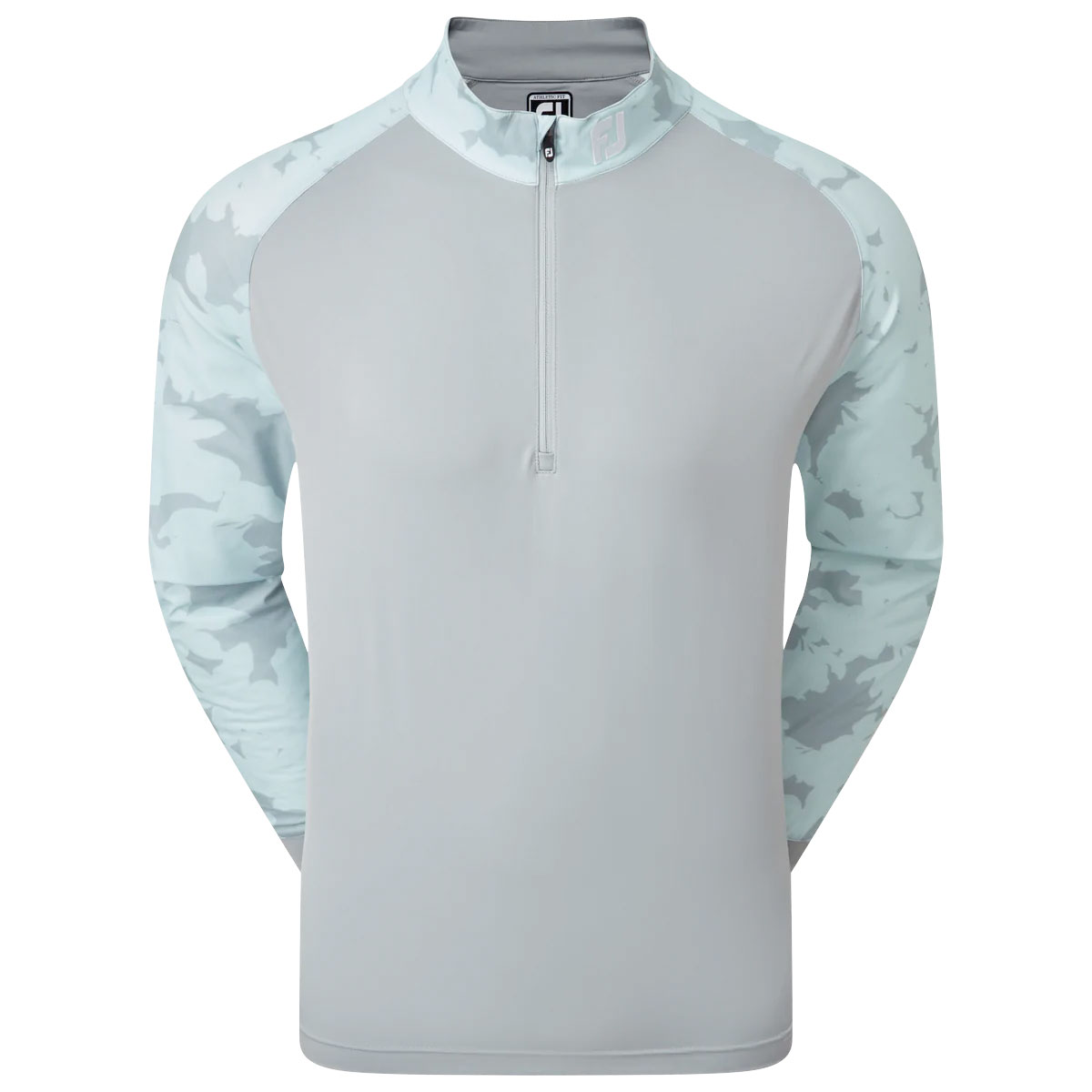 FootJoy Camo Floral Half Zip Mens Golf Mid Layer  - Grey