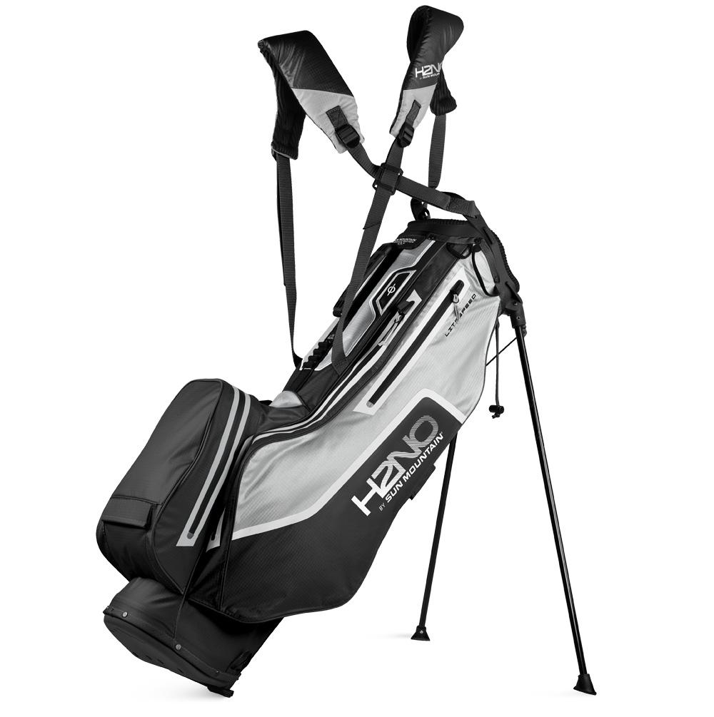 Sun Mountain H2NO Lite Speed Waterproof Stand Golf Bag  - Black/Grey/White