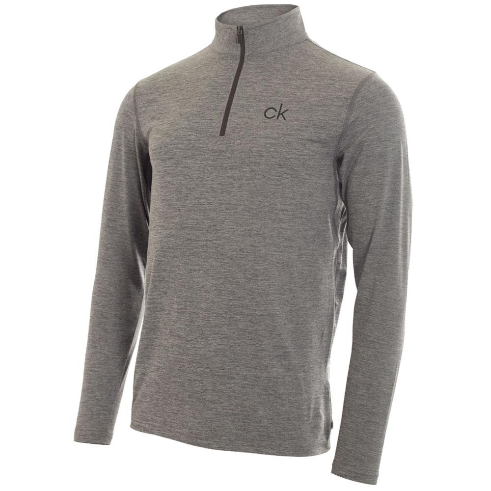 Calvin Klein Mens Newport Half Zip Golf Pullover  - Silver