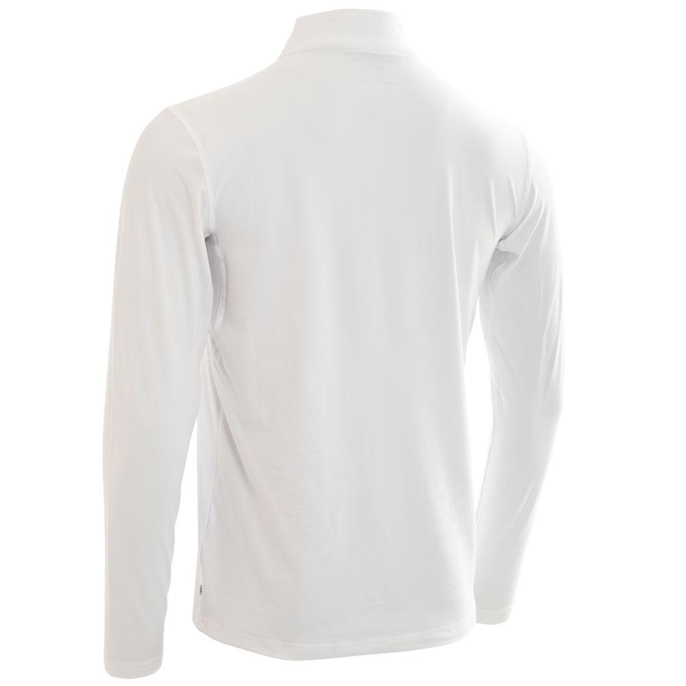 Calvin Klein Mens Newport Half Zip Golf Pullover  - White