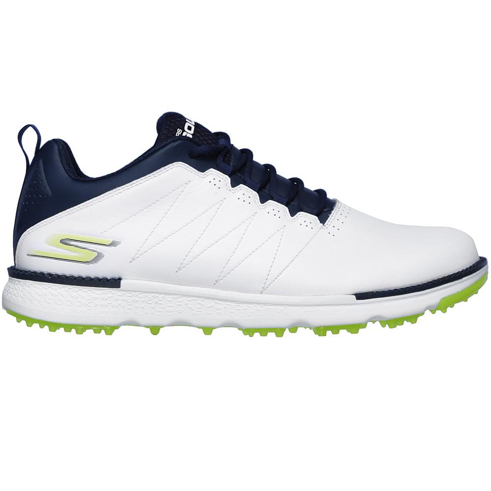 Skechers Go Golf Elite V.3 Mens Spikeless Golf Shoes  - White/Navy