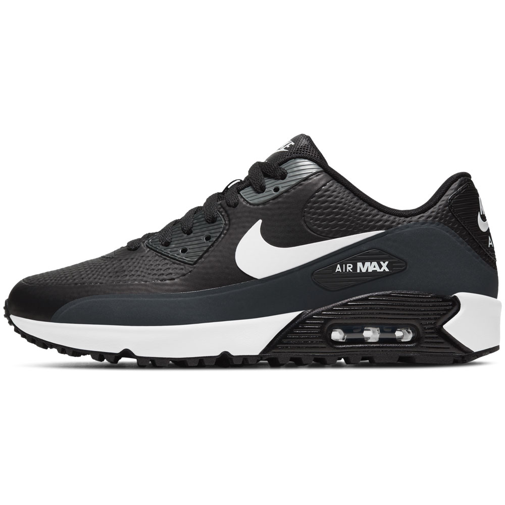 Nike Air Max 90 G Spikeless Waterproof Golf Shoes (Black/White/Anthracite)