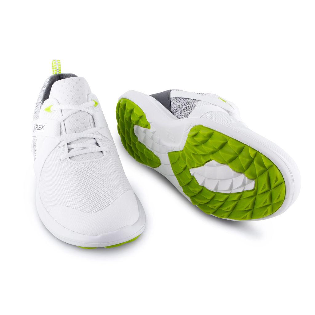 FootJoy Flex Lightweight Mesh Spikeless Mens Golf Shoes  - White / Grey