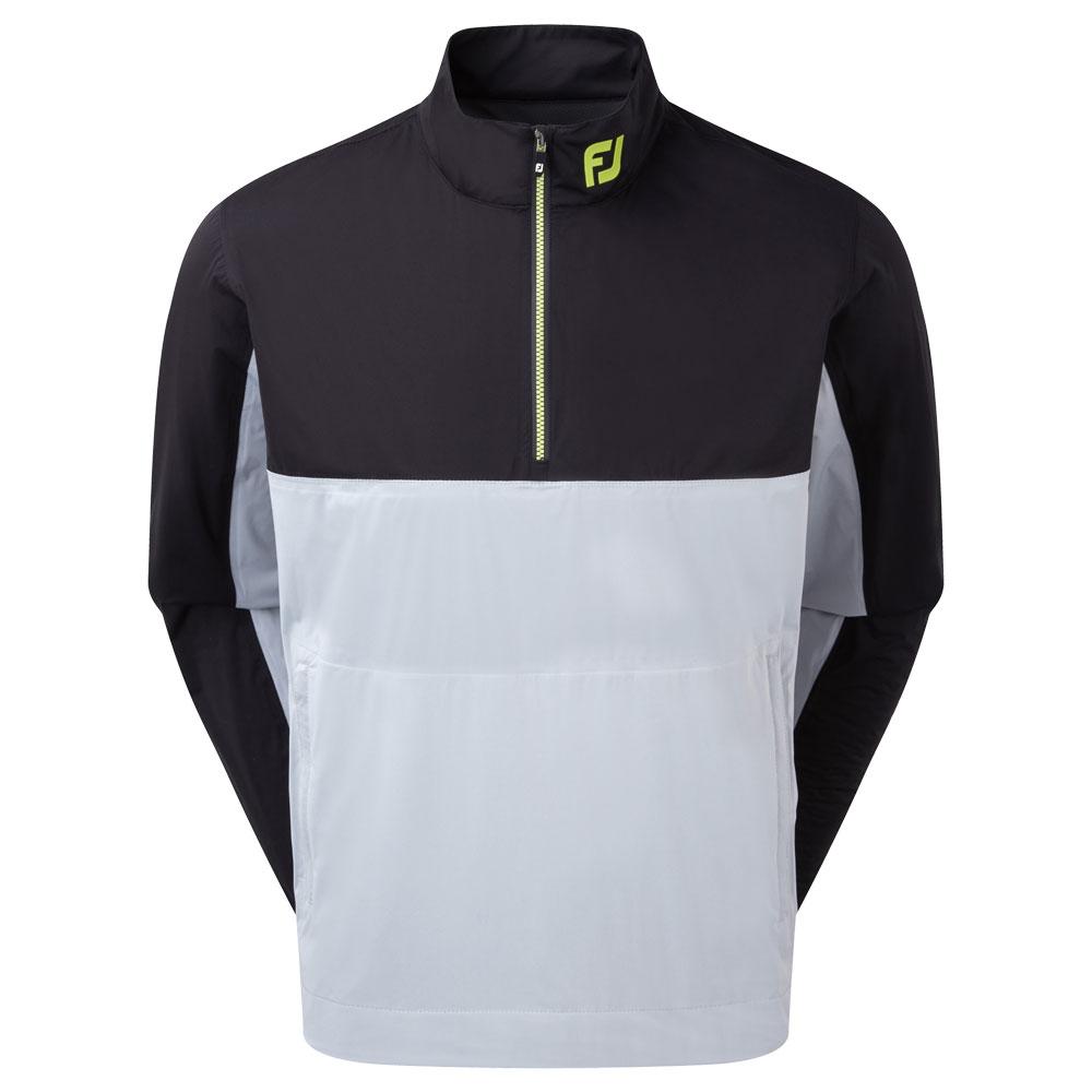 FootJoy HydroKnit 1/2 Zip Waterproof Jacket  - Black/Grey