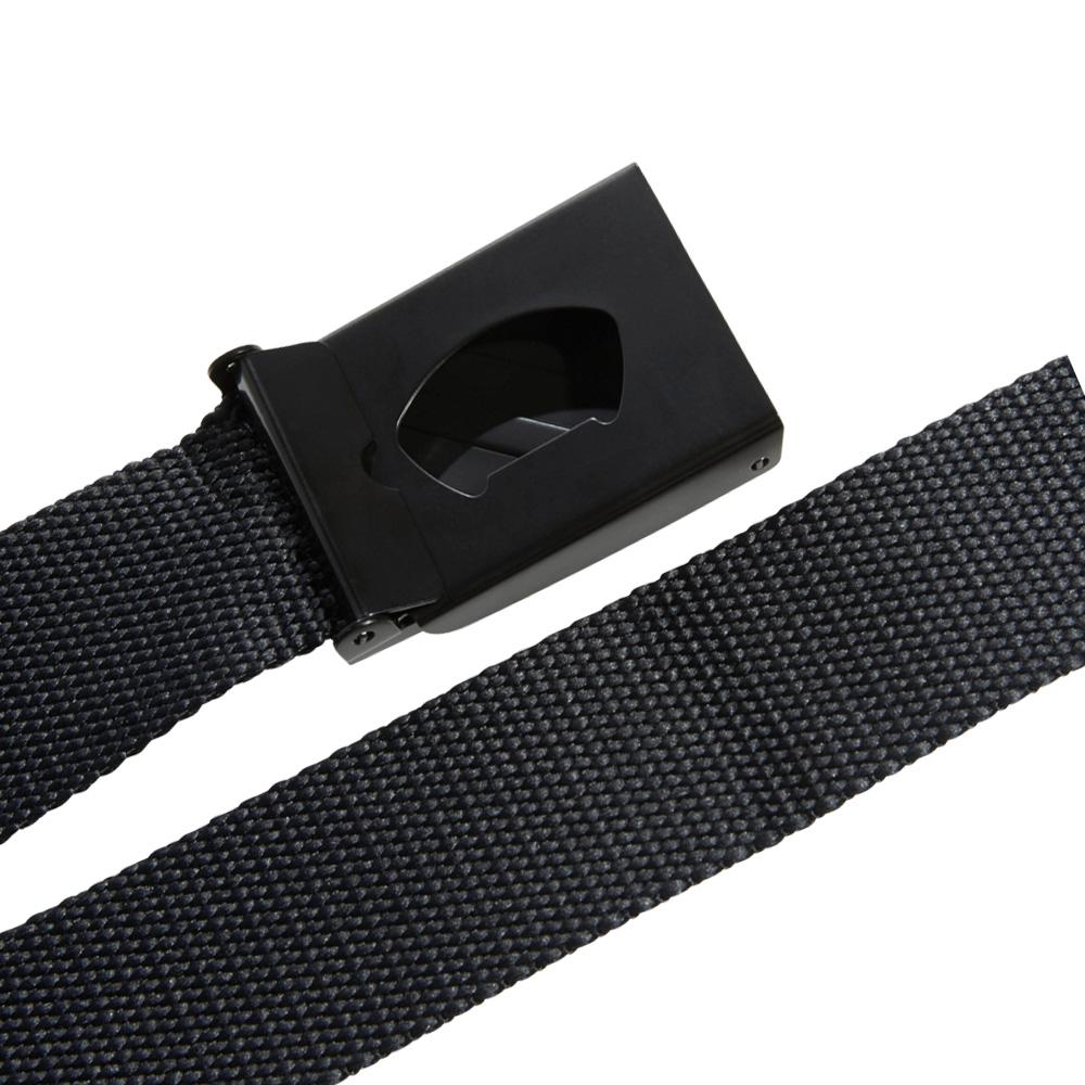 adidas 3-Stripes Buckle Webbing Golf Belt  - Black