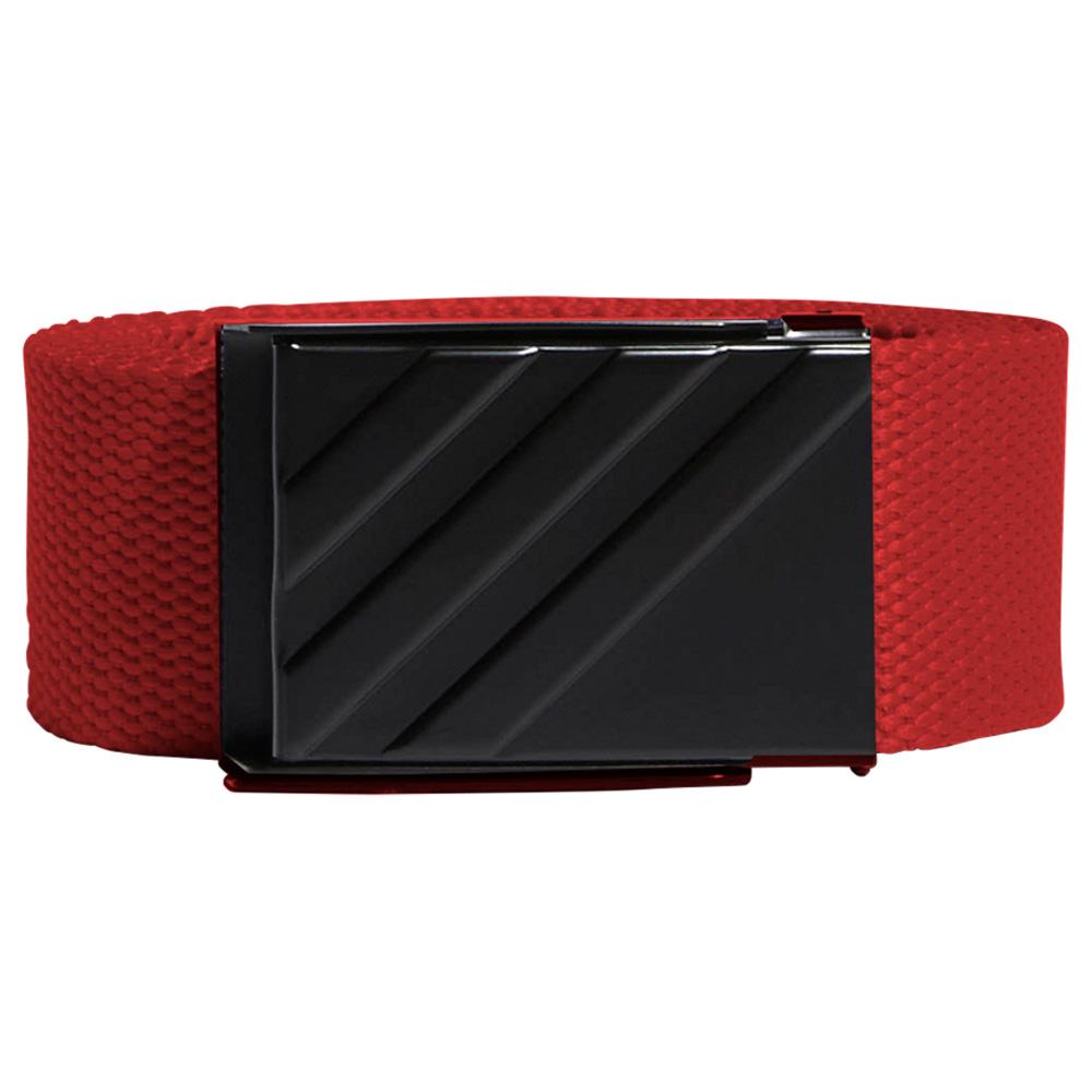adidas 3-Stripes Buckle Webbing Golf Belt  - Bold Red