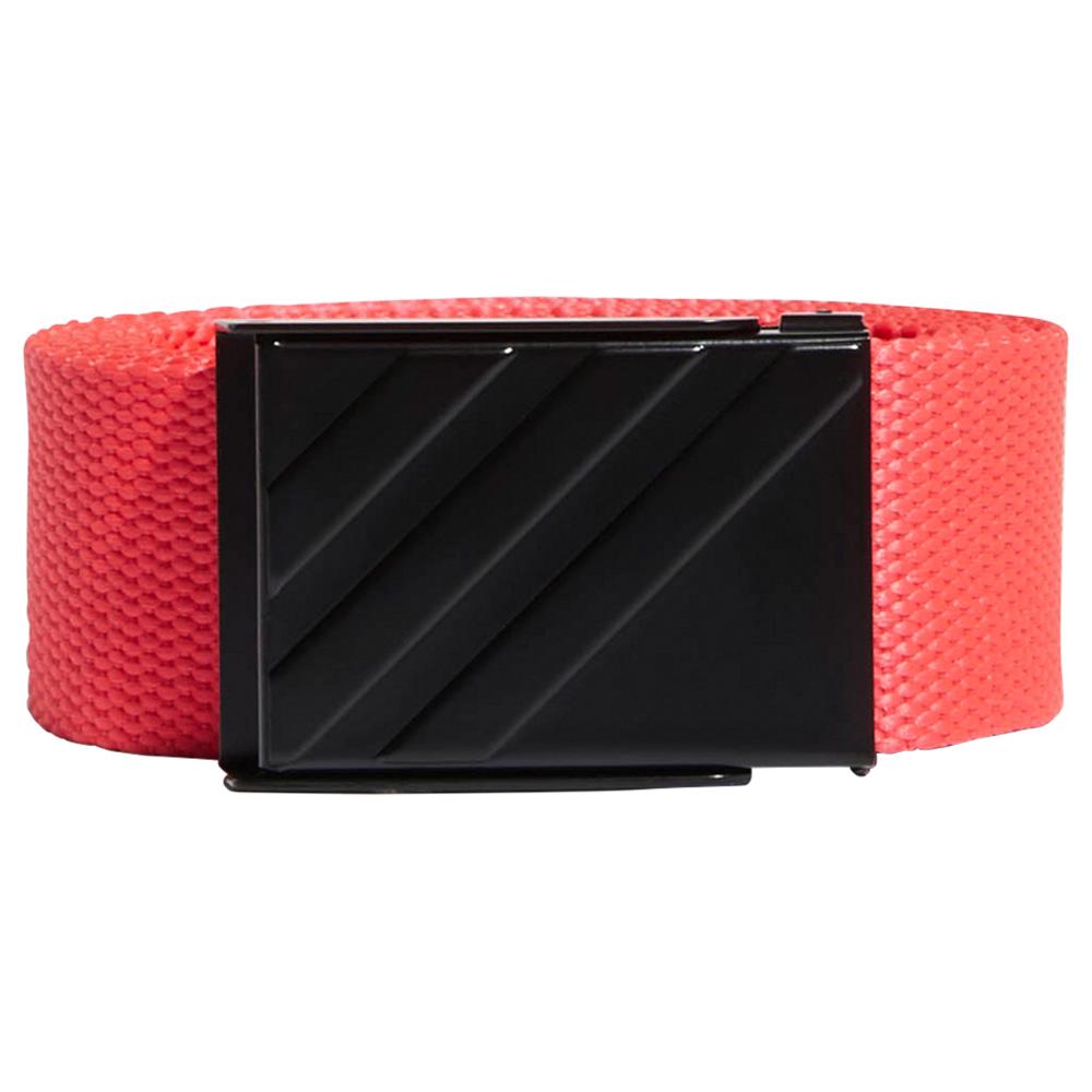adidas 3-Stripes Buckle Webbing Golf Belt  - Shock Red