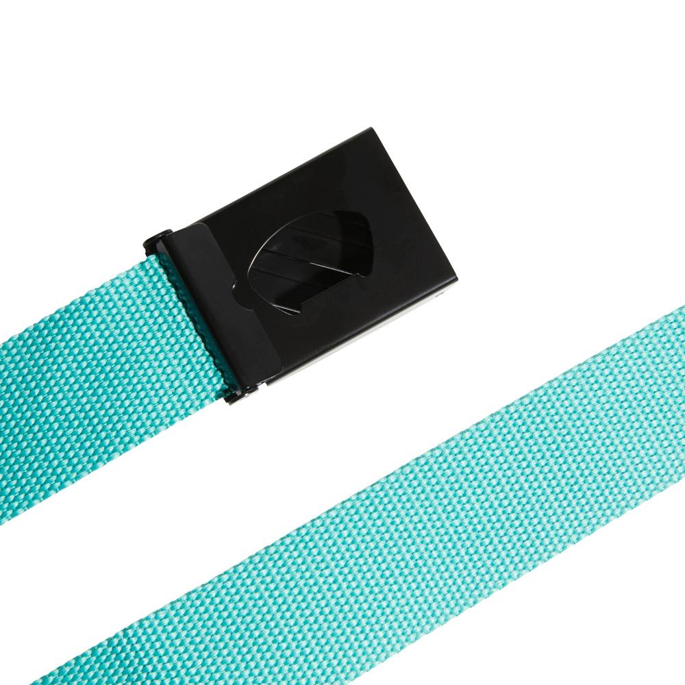 adidas 3-Stripes Buckle Webbing Golf Belt  - True Green