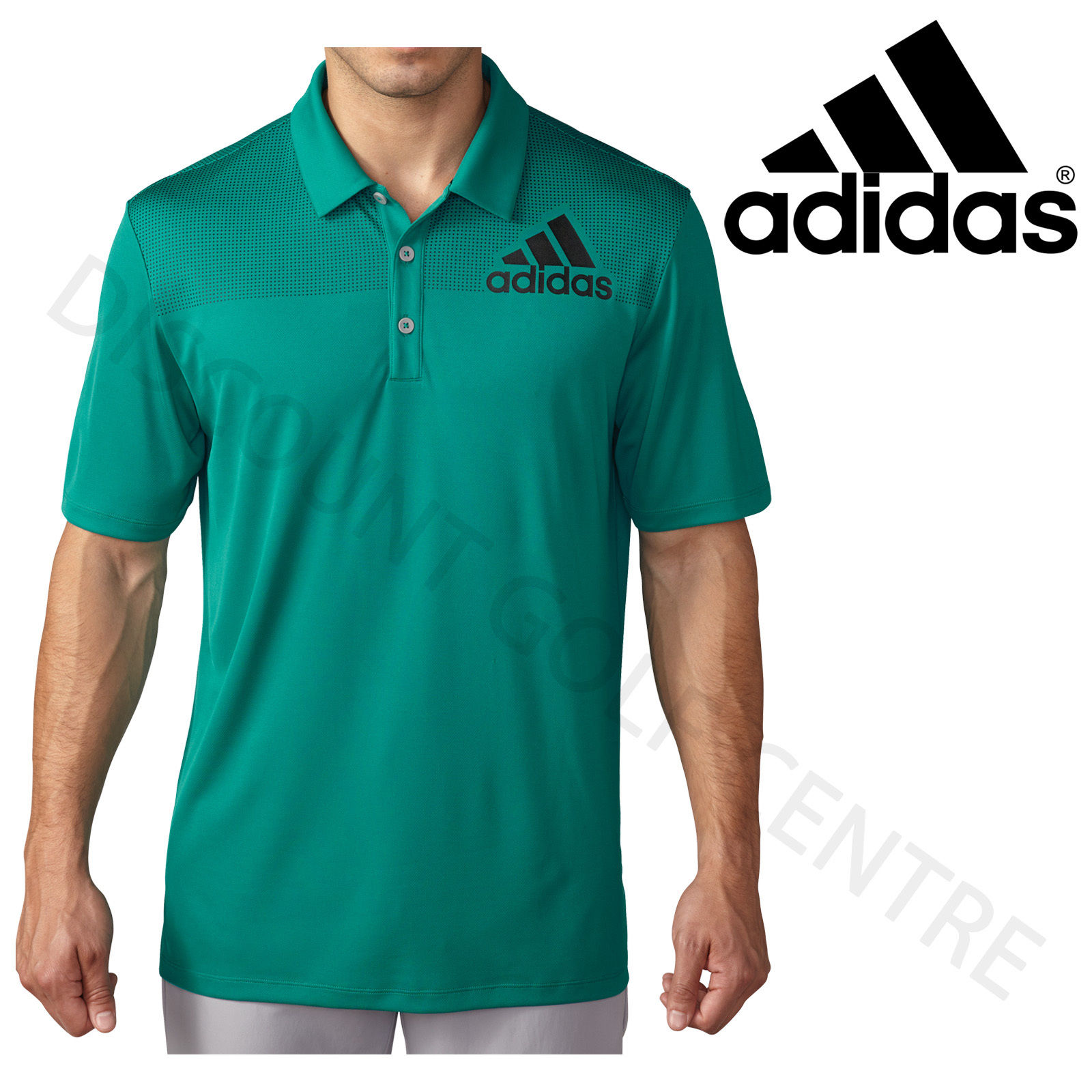 Adidas golf big logo dot print lightweight mens for Polo shirts for printing