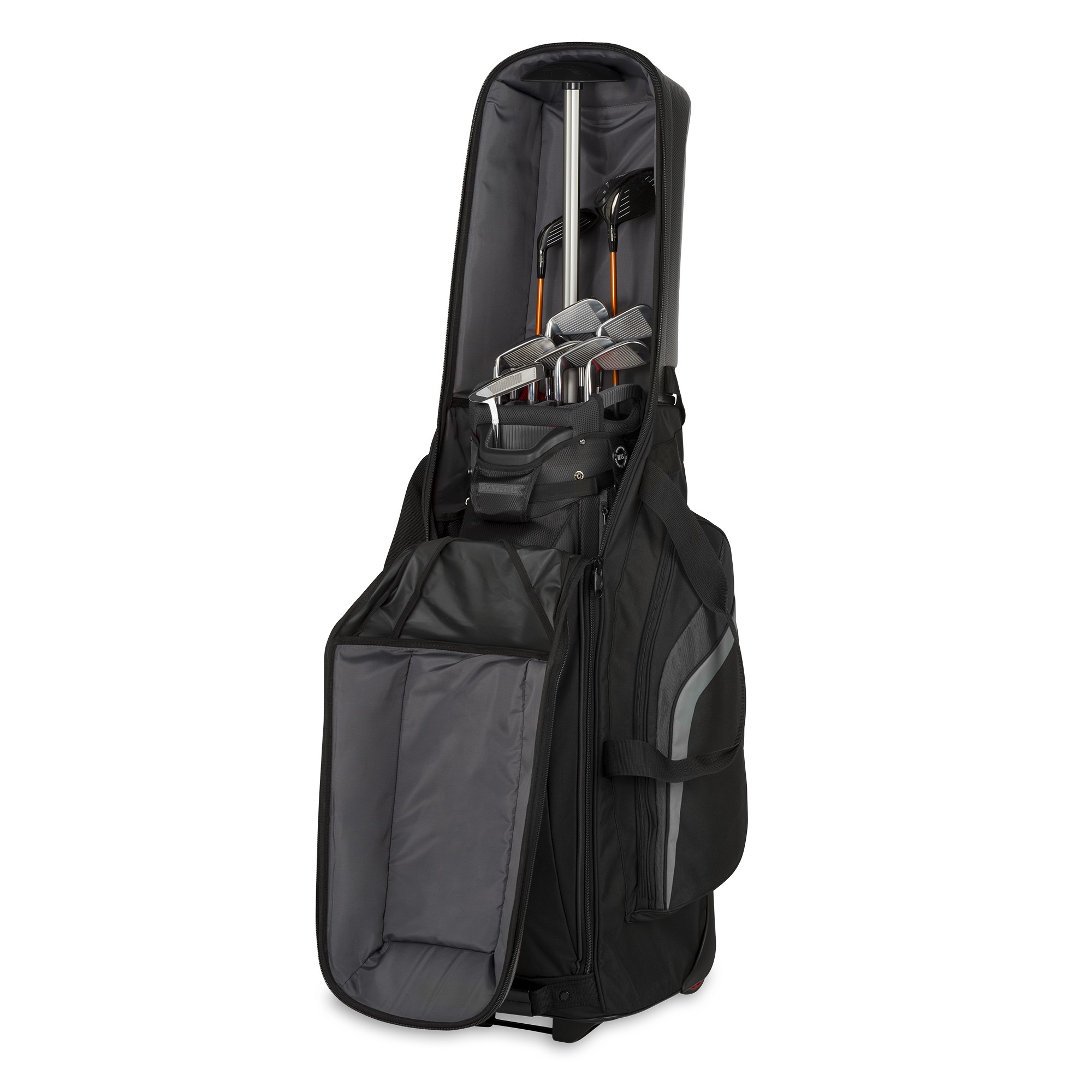 BagBoy Golf T-10 Hard Topped Wheeled Travel Cover Flight Bag  - Black/Graphite