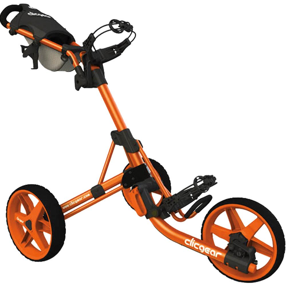 Clicgear 3.5+ Golf Trolley Push Cart + Free Wheel Covers  - Orange