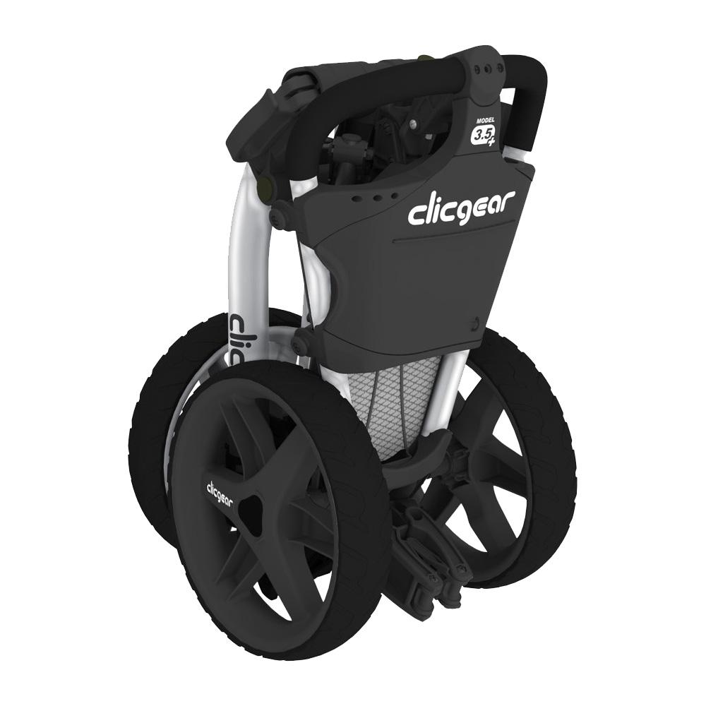 Clicgear 3.5+ Golf Trolley Push Cart + Free Wheel Covers  - Silver